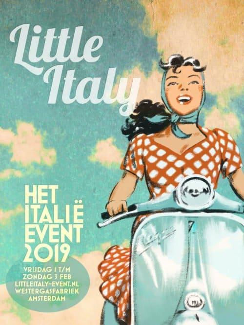 Zuid Italie reizen op de little italy in de westergasfabriek Amsterdam